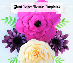 giant flower templates giant paper flower wall wedding