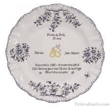 poeme 50 ans de mariage noces d or assiettes en faïence modèle louis xv pour souvenir et anniversaire