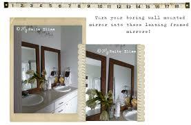 Diy Bathroom Mirror by My Suite Bliss Diy Bathroom Mirror