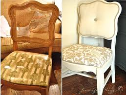 Modernizing Antique Furniture by Modernizing An Old Cane Back Chair With Tufting Jennifer Rizzo