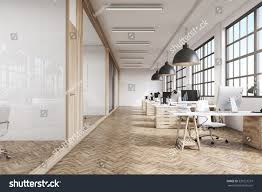 Office View by Front View Office Interior Row Dark Stock Illustration 530221237
