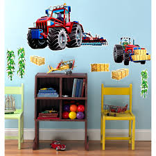 farm tractor giant wall decal birthdayexpress