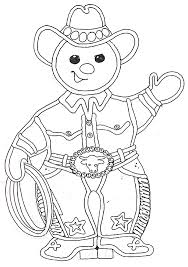 cowboy gingerbread man coloring page christmas pinterest