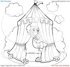 download large image circus tent circus tent coloring page