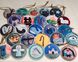 advent ornaments etsy
