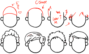 drawings of 1950 boy s hairstyles how to draw boys and mens hair styles for cartoon characters
