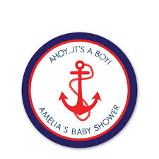 anchor baby shower anchor baby shower favor stickers pipsy