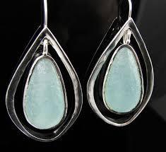 silver teardrop earrings 925 sterling silver teardrop earrings with ancient glass