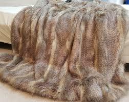 Fake Fur Throws Desert Coyote Faux Fur Throw Faux Fur Throws Fabric And Fashion