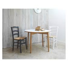 Round Dining Table Oak Orso White Top Round Dining Table Sturdy Oak Legs Solid White