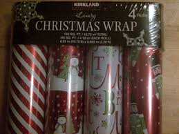 kirkland wrapping paper kirkland signature luxury christmas wrapping paper wrap 4 rolls