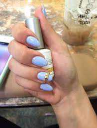 my oval nails very rare with my favorite color of the season