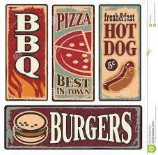 Deco Vintage Americaine Burger Signs Cerca Con Google Manifesti Per Inquisimunda