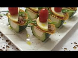 canapé made in appetizers canapes made from cucumber and tuna how to