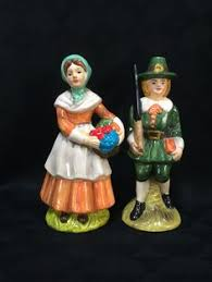 vintage pilgrim boy and figurines vintage thanksgiving