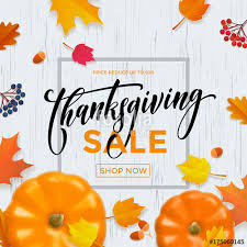 thanksgiving autumn shop sale poster or store promo discount web