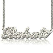 name with necklace images Custom nameplate necklace cheap jpg