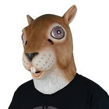 amazon com larpgears latex squirrel mask full head animal mask