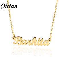 personalized necklaces for qitian name necklace gold color stainless steel personalized