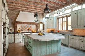 Country Pendant Lights Rustic Country Kitchen Brown Laminated Wooden Floor