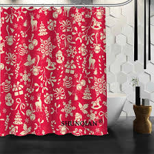 2017 christmas element shower curtain christmas decorations for