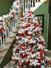 flocked tree decorating ideas images