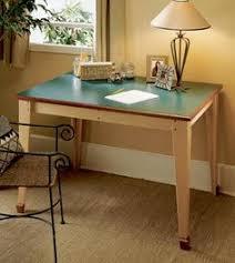 computer desk woodworking plan from wood magazine desk plans