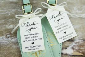 luggage tag favors creative wedding favors for your destination wedding