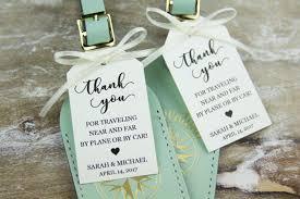 luggage tag wedding favors creative wedding favors for your destination wedding