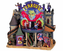 lemax spooky town lemax spooky town funhouse with adaptor 65344