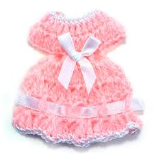 maple craft mini baby knit crochet dress baby shower party