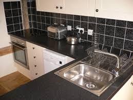 Tiled Kitchen Worktops - kitchen tiles black interior design