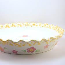 personalized pie plate ceramic pie dish personalized pie plate pretty flower pie