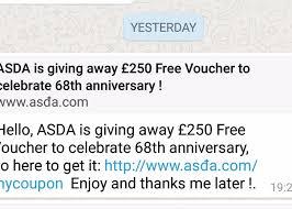 asda 250 u0027free u0027 voucher giveaway it u0027s a scam