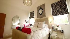 High End Bedroom Furniture Classy Gril Bedroom Furniture With Silver Frame Wall Mirror And