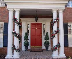 how to hang garland around front door articles with how to hang