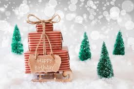 sleigh on white background happy birthday stock photo