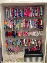 barbie closet clothes storage barbie project pinterest