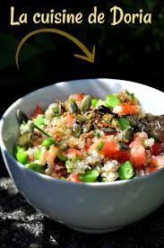 cuisiner les petit pois frais salade de quinoa tomates petits pois frais et graines la cuisine