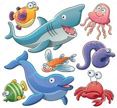 sea animals collection u2014 stock vector h4nk 11128420
