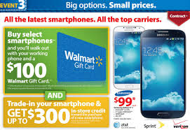 best black friday smartphone deals 2016 walmart black friday full ad leaked 100 gift card with select