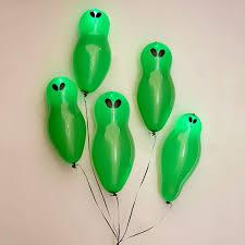 halloween led balloons blinking light up alien balloons the green head