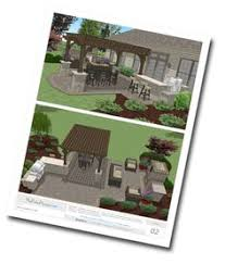 Large Paver Patio Design With Grill Station Bar Plan No by Large Backyard Patio Design With Pergola Built In Fire Pit And