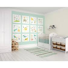 animal alphabet wall mural wals0268 the home depot null animal alphabet wall mural