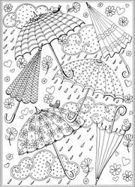 prettiest umbrella coloring coloring girls