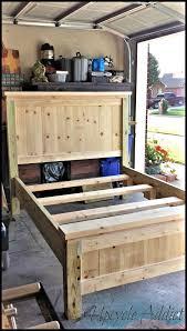 Full Size Storage Bed Frame Bedroom Full Size Wooden Bed Regarding Home Wood Loft With Desk
