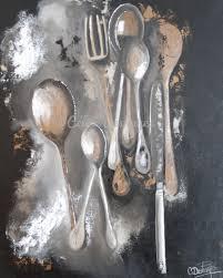 tableau pour cuisine les couverts du dimanche 80 100 céline deshayes artiste peintre