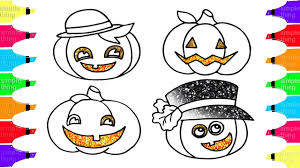 how to draw pumpkin patch learn colors with halloween simple