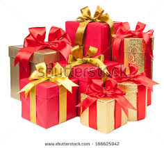boxes with bows gift concept present boxes bows isolated stock photo 167739572