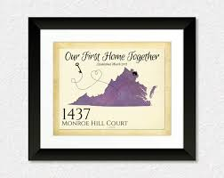 personalized housewarming present our first home together quote